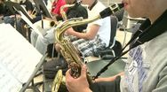Middle school students practicing in Music Class (6 of 10) Stock Footage