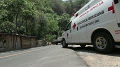 Red Cross Ambulance Stock Footage