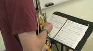 Stock Video Footage of Students reading sheet music in class (9 of 9)