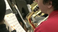Students reading sheet music in class (4 of 9) Stock Footage