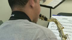 Students reading sheet music in class (1 of 9) Stock Footage