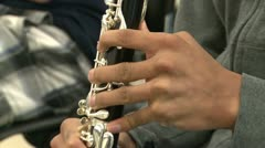 Students practicing in music class (4 of 7) Stock Footage