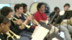Students practicing in music class (2 of 7) Stock Footage