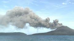 Explosive Eruption At Anak Krakatau Volcano - stock footage