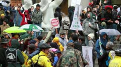 Occupy Portland on November 17th 2011 - stock footage