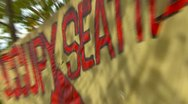 Protest, Occupy (Wall-Street) Seattle tent camp and signs snap zoom Stock Footage