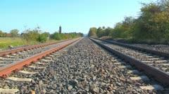 Rail tracks Stock Footage
