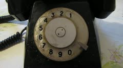 Old phone. Stock Footage