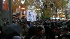 Occupy Portland on November 17th 2011 Stock Footage