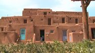 Stock Video Footage of Native Americans at the Taos pueblo, New Mexico.
