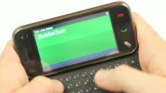 Mobile Chat Messages Stock Footage