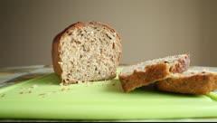 Organic bread Stock Footage