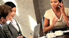Successful Multi Ethnic Team of Business Advisors - stock footage