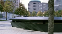 Nine Eleven Memorial at World Trade Center Stock Footage