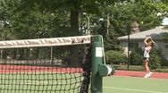 Stock Video Footage of Woman playing tennis (2 of 3)