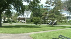 Panoramic view of upper class residential area. Stock Footage