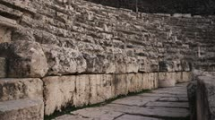 Ancient theater seating Stock Footage