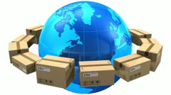 Worldwide shipping concept - stock footage