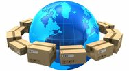 Stock Video Footage of Worldwide shipping concept