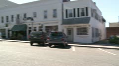 Looking down main street Stock Footage