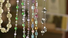 Close up of jewelry - stock footage