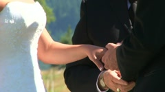 Wedding Ring Exchange Stock Footage