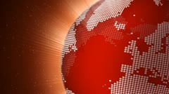 Rotating red globe seamless loop - stock footage