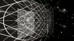 abstract grid - stock footage