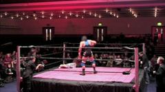 WWE & TNA wrestling superstar Al Snow, in ring with head - stock footage