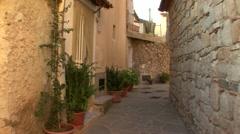 Quiet italian village 02 Stock Footage