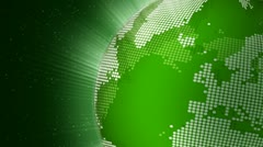 Rotating green globe seamless loop - stock footage