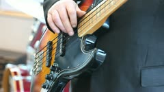 Bass guitarist Stock Footage