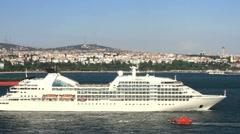 Luxury Cruise Ship  Stock Footage