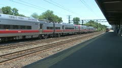 Train leaving the station Stock Footage
