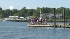 Sailing class (2 of 5) Stock Footage