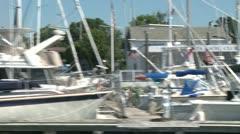 Boats docked at marina. Stock Footage