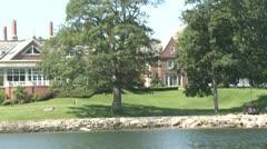 Beautiful coastal homes (4 of 5) Stock Footage