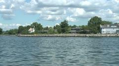 Shoreline homes (2 of 9) Stock Footage