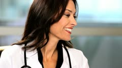Female Caucasian Medical Executive Stock Footage