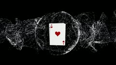 Four Aces Poker Background 5 - HD1080 Stock Footage