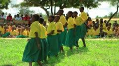 School performance near a village in Kenya. - stock footage
