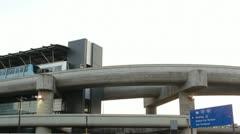 Airport Tram Traffic  ED Stock Footage