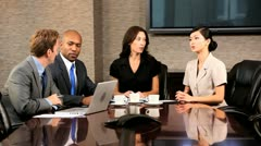 Meeting of Multi Ethnic Business Executives  Stock Footage