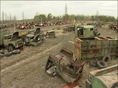 Cemetery machines Stock Footage