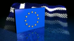 European Debt Crisis - Greece - EU 03 (HD) Stock Footage