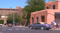 An establishing shot of Santa Fe, New Mexico. Stock Footage