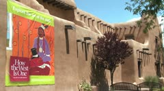 Exterior of a museum building in Santa Fe, New Mexico. Stock Footage