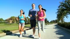 Youthful Friends Fitness Program - stock footage