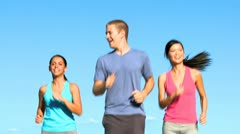 Youthful Friends Fitness Program Stock Footage