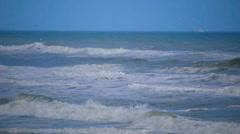 Slow Motion Ocean Waves Stock Footage